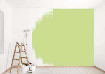 grüne Wand streichen