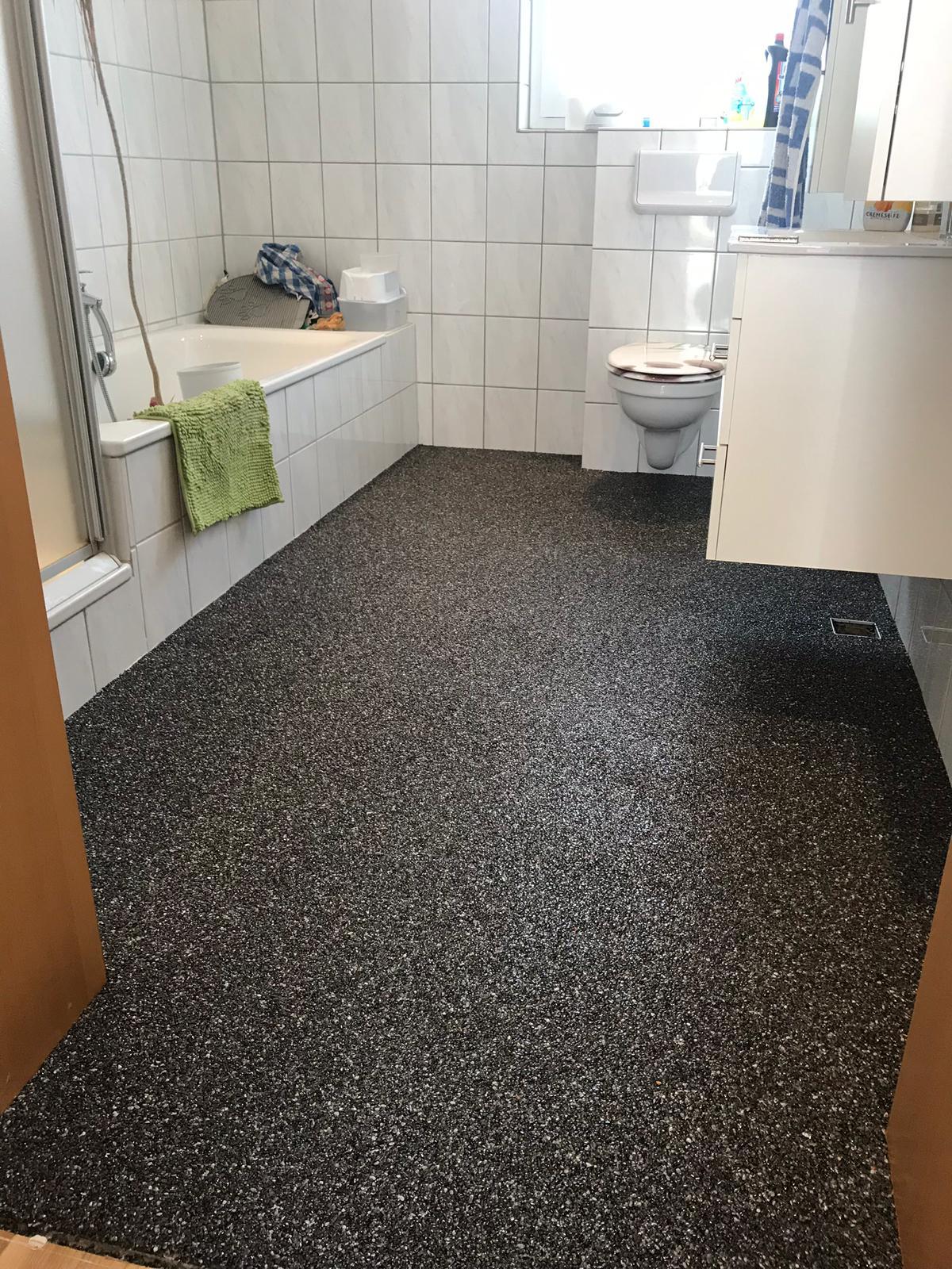 Ein neuer Steinteppich im Bad