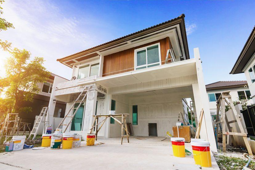 Haus wird von aussen Renoviert