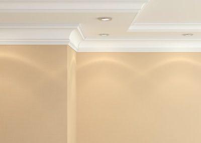 Ceiling cornice.